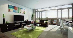 Abstract-Graffiti-Art-Wall-Decoration-in-Small-Modern-Living-Room-Interior-Decorating-Designs-Ideas