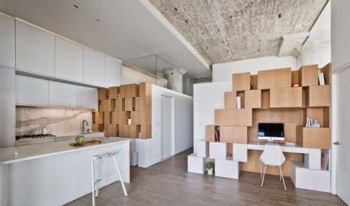 make a minimum living space for much larger with storage cabinets Wall2