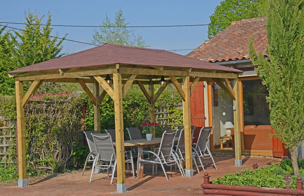 How Should You Install The Wood Gazebo On A Grass Surface?